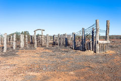 Stock yards at abandoned homestead in outback Aust Royalty Free Stock Photos
