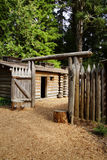 Stockade fence of Fort Clatsop Royalty Free Stock Photo
