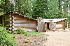 Stockade fence of Fort Clatsop Stock Image
