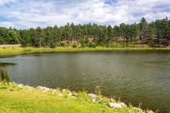 Stockade jezioro w Custer stanu parku zdjęcia stock