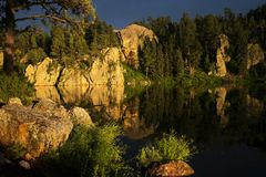 Stockade Lake in Custer State Park. Stockade Lake in the Black Hills of Custer State Park in South Dakota stock photography