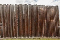 Stockade. Rustic wooden fence, Shushenskoye, Russia Stock Images