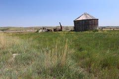 Stockage abandonné de grain images stock