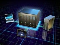Stockage ci-joint par réseau Image stock