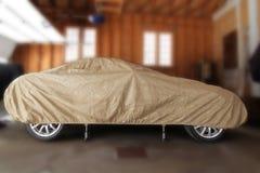 Stockage d'hiver de voiture photographie stock
