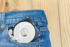 Stockage de disque dur Images libres de droits