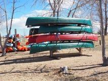 Stockage de kayak Photo libre de droits