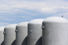 Pétrole et réservoirs à gaz Image libre de droits