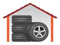 Stockage de pneu Images libres de droits