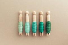 Stockage de soie de broderie Photo libre de droits
