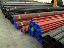 Stockage en acier d'entrepôt Photo stock