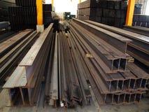 Stockage en acier d'entrepôt Photo libre de droits