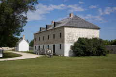 Stockage of Lower Fort Gary. Historic building known as the stockade in Lower Fort Gary, just out side of Winnipeg Manitoba Canada Royalty Free Stock Images