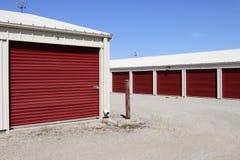 Stockage numéroté d'individu et mini unités de garage de stockage XII images libres de droits