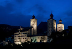 Stockalper Palace. Of Brig in the evening Royalty Free Stock Images