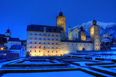 Stockalper Palace in Brig Switzerland stock photo