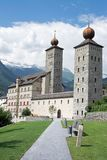 Stockalper Palace, Brig, Switzerland. The Stockalper Palace is a castle build between 1651 and 1671 in Brig-Glis, Switzerland royalty free stock image