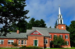 Stockbridge, MA: First Congregational Church. Stockbridge, Massachusetts: The brick First Congregational Church royalty free stock photography