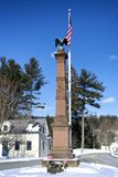 Stockbridge Massachusetts Civil War stone Monument. The stockbridge Massachusetts civil war monument in the center of town on a winter sunny blue sky day royalty free stock photos