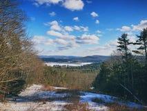Stockbridge vintersikt fotografering för bildbyråer