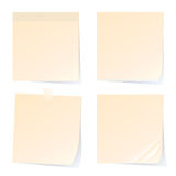 Stockbriefpapiere lokalisiert auf weißem Hintergrund vektor abbildung