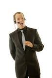Stockbroker or customer service rep Stock Photos