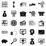 Stockbroker icons set, simple style Stock Photography