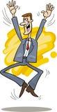 Stockbroker jumping Royalty Free Stock Image