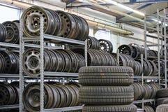 Stocked tires stock photos