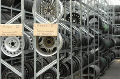 Stocked tires Royalty Free Stock Images