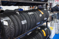 Stocked tires bike Stock Photos