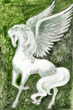 Stockez l'illustration de Pegasus blanc Photo libre de droits
