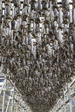 Stockfish racks in Lofoten Royalty Free Stock Photography
