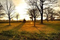 Stockford-Park-Luton-Sonnenuntergang Stockfotografie
