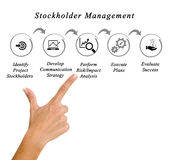 Stockholder Management. Presenting Diagram of Stakeholder Management royalty free stock image
