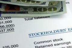 Stockholders Balance Sheet Royalty Free Stock Images