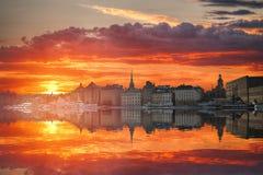 Stockholm är huvudSverige Fotografering för Bildbyråer