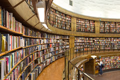 Stockholm-öffentliche Bibliothek, Schweden Lizenzfreie Stockfotografie