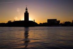 здание муниципалитет stockholm Стоковая Фотография