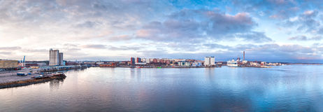 Stockholm. Panorama of Stockholm in the early morning Stock Image