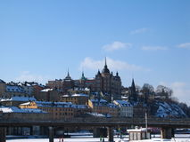 Stockholm. In winter Royalty Free Stock Photos