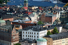 Stockholm from above. Stockholm - the general view to the old town Royalty Free Stock Photo