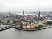 Stockholm aerial view Royalty Free Stock Photos