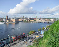Stockholm aerial view Stock Photography
