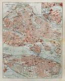 Stockholm-alte Karte Lizenzfreies Stockbild