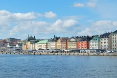 Stockholm-alte Stadt Stockfotos