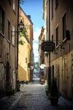Stockholm-alte Stadt Stockfoto