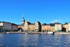 Stockholm, alte Stadt. Bereich Kornhamnstorg Lizenzfreie Stockbilder