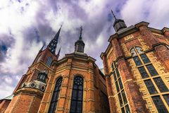 Stockholm - April 07, 2017 : Church of Riddarholmen in Stockholm. Sweden Stock Photography