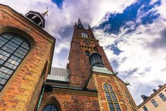 Stockholm - April 07, 2017 : Church of Riddarholmen in Stockholm. Sweden Royalty Free Stock Images